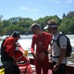 Ernst Bromeis beim Rheinfall